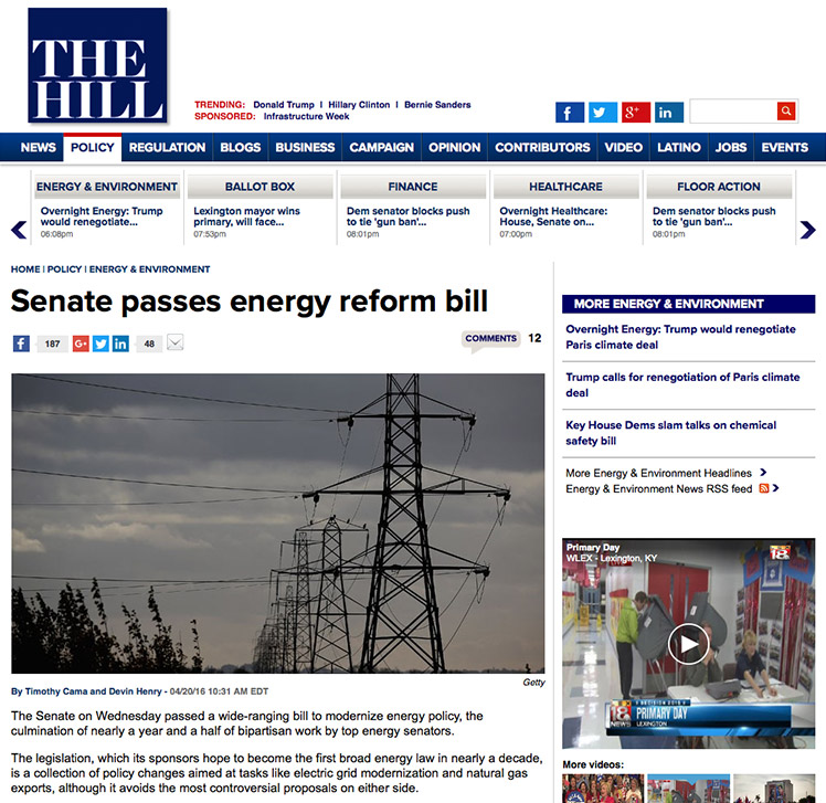 The U.S. Senate has approved an energy bill that could bring USA  become an energy superpower