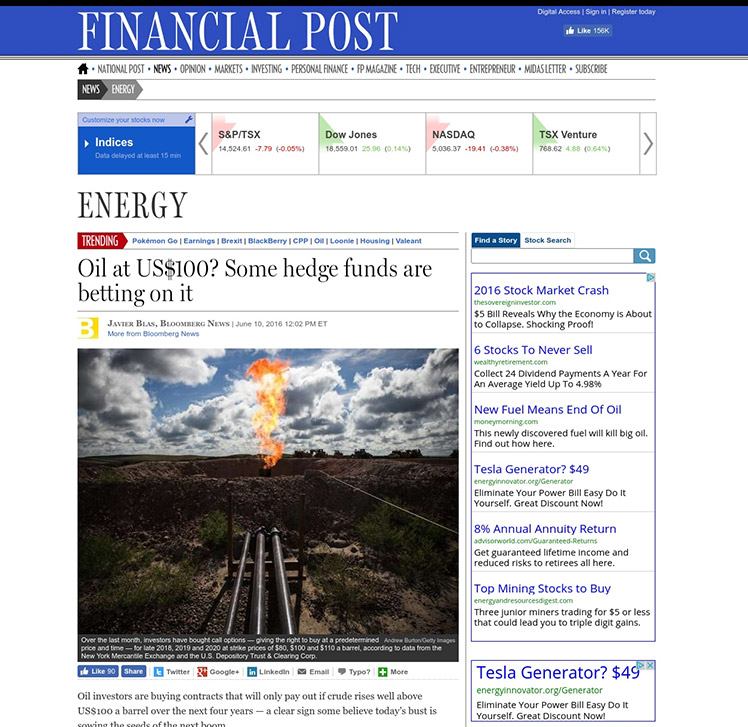Oil At US$100? Hedge Funds Bet On Supply Crunch.  @oileconomyfocus