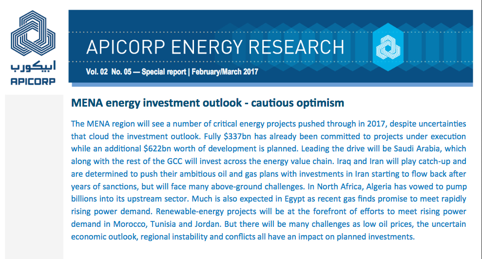 MENA Region: Pushing Through Critical Energy Projects This Year